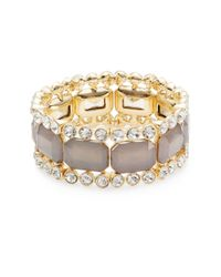 R.j. Graziano | Gray Jeweled Stretch Bracelet | Lyst