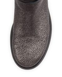 Aquatalia - Gray Sami Metallic Crisscross Buckled Mid-calf Boot - Lyst