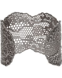 Aurelie Bidermann | Metallic Vintage Lace Cuff | Lyst