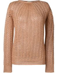 Forte Forte - Brown Open Knit Sweater - Lyst