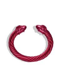 David Yurman - Limitededition Renaissance Bracelet in Pink Aluminum - Lyst