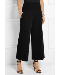 wide leg cropped pants - Black Stella McCartney 63ID2