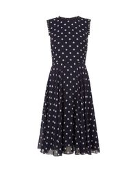 Hobbs | Blue Suzie Spot Swing Dress | Lyst