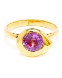 Natasha Collis - Metallic 'nugget' Sapphire Ring - Lyst