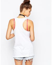 The Ragged Priest - White Ragged Racer Back Vest With Patch Applique - Lyst