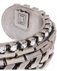 DANNIJO - Metallic Silver Nolan Chain Cuff Bracelet - Lyst