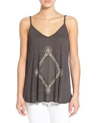 Roxy | Brown 'get Free' Scoop Back Camisole | Lyst
