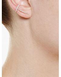 Asherali Knopfer | Pink 'theo' Diamond Earring | Lyst