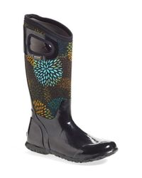 Bogs | Black North Hampton Floral Rain Boots | Lyst