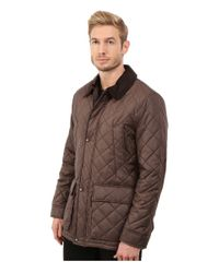 Cole Haan - Brown Quilted Nylon Barn Jacket for Men - Lyst