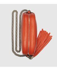 Gucci | Orange Soho Leather Mini Chain Bag | Lyst