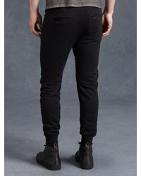 John Varvatos | Black Cotton Knit Biker Pant for Men | Lyst
