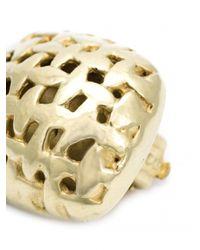 Vaubel - Metallic Woven Square Clip Earrings - Lyst