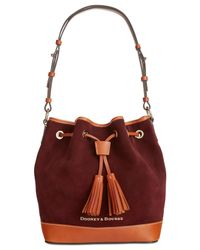 Dooney & Bourke - Purple Suede Drawstring Bag - Lyst