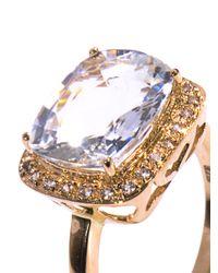 Zoe & Morgan - Metallic Aquamarine and Yellow Gold Ring - Lyst