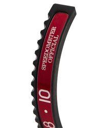 Speedometer Official - Red And Black Marine Steel Bracelet for Men - Lyst