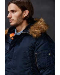 Alpha Industries - Blue N-3b Slim-fit Jacket for Men - Lyst