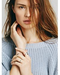 Free People - Metallic Womens Stacking Ring Trio - Lyst