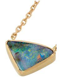 Brooke Gregson - Green 18karat Gold Boulder Opal Necklace - Lyst
