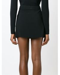 Stella McCartney - Black Appliqué Detail A-line Skirt - Lyst