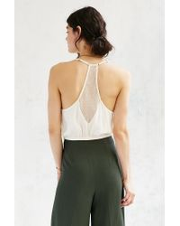 Kimchi Blue | White Rory Sheer Inset Cami | Lyst