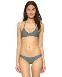Mikoh Swimwear | Green Uluwatu Racerback Top - Army | Lyst