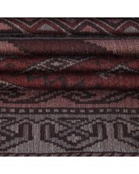 Paul Smith - Red Rug Tapestry Pattern Silk-blend Scarf for Men - Lyst