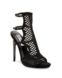 Steve Madden - Black Maylin Suede Cage Sandals - Lyst