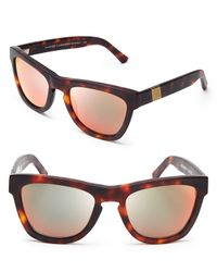 Westward Leaning - Louisiana Purchase Mirrored Wayfarer Sunglasses - Lyst