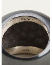 Maria Black - Metallic 'Smooth Rock' Ring - Lyst