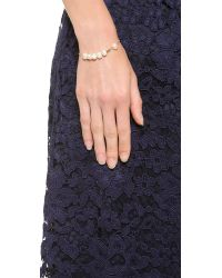 Ginette NY | Metallic Cultured Freshwater Pearl & Tube Bracelet | Lyst