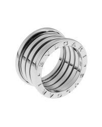 BVLGARI - Metallic Women's B.zero1 18k White Gold 5-band Ring Size 7.5 - Lyst