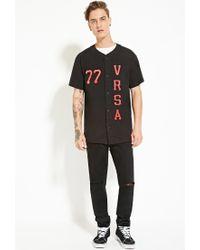 Forever 21 - Black Versalution Baseball Jersey for Men - Lyst
