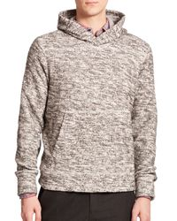 Vince | Gray Marled Hoodie for Men | Lyst