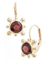 Anzie - Red 'dewdrop' Drop Earrings - Lyst