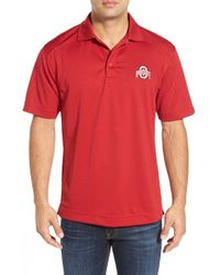 Cutter & Buck - Red 'ohio State University Buckeyes - Genre' Drytec Polo for Men - Lyst