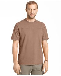 G.H. Bass & Co. | Brown Pieced Heathered T-shirt for Men | Lyst