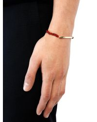 Luis Morais | Red Glass Bead And Yellow-Gold Bracelet for Men | Lyst