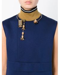 Marni - Metallic Contrasting Panel Necklace - Lyst