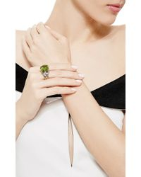 Nicholas Varney - Metallic One Of A Kind Peridot, Sapphire, And Diamond Horst Ring - Lyst