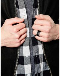 ASOS | Black Spiral Ring for Men | Lyst