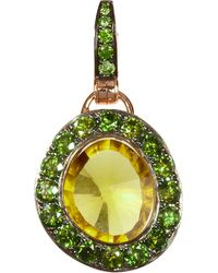 Annoushka | Green Dusty Diamonds 18ct Rose-gold Quartz And Diamond Pendant | Lyst