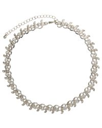 John Lewis | Metallic Cubic Zirconia Link Necklace | Lyst