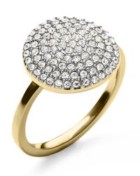Michael Kors | Multicolor Pavé Disc Ring | Lyst