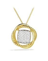 David Yurman - Metallic Infinity Medium Pendant with Diamonds in Gold On Chain - Lyst