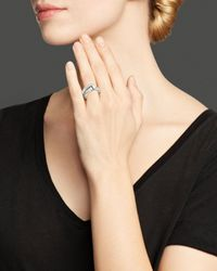 Roberto Coin   Metallic Sterling Silver Hammered Wrap Ring   Lyst