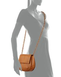 Nancy Gonzalez - Brown Round Flap-Top Crocodile Cross-Body Bag - Lyst