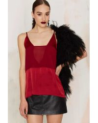 Nasty Gal - Deeper And Deeper Sheer Tank - Red - Lyst