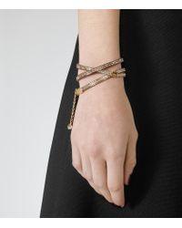 Reiss | Metallic Letitia Wrap Bracelet With Crystals From Swarovski | Lyst