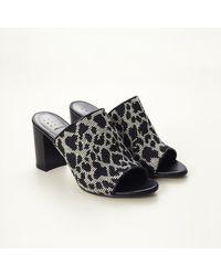 Trademark   Black Leopard Mule   Lyst
